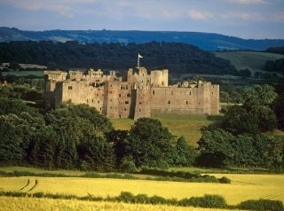 Raglan Castle, Monmouthshire, Wye valley, Pays de Galles